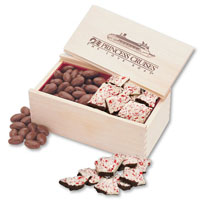 Peppermint Bark & Chocolate Covered Almonds